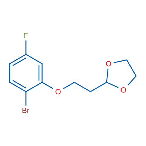 2-(2-(2-Bromo-5-fluorophenoxy)ethyl)-1,3-dioxolane