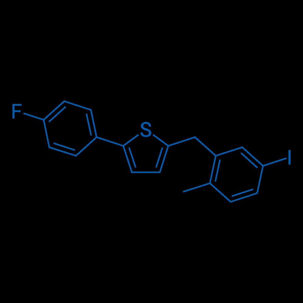 2-(4-Fluorophenyl)-5-(5-iodo-2-methylbenzyl)thiophene