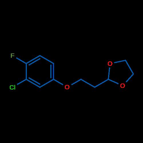 2-(2-(3-Chloro-4-fluorophenoxy)ethyl)-1,3-dioxolane