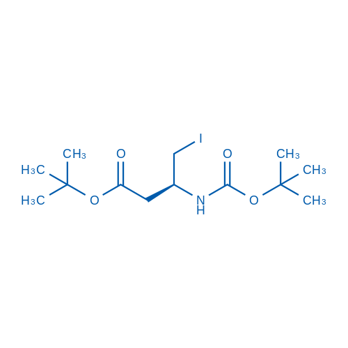 (S)-tert-Butyl 3-((tert-butoxycarbonyl)amino)-4-iodobutanoate