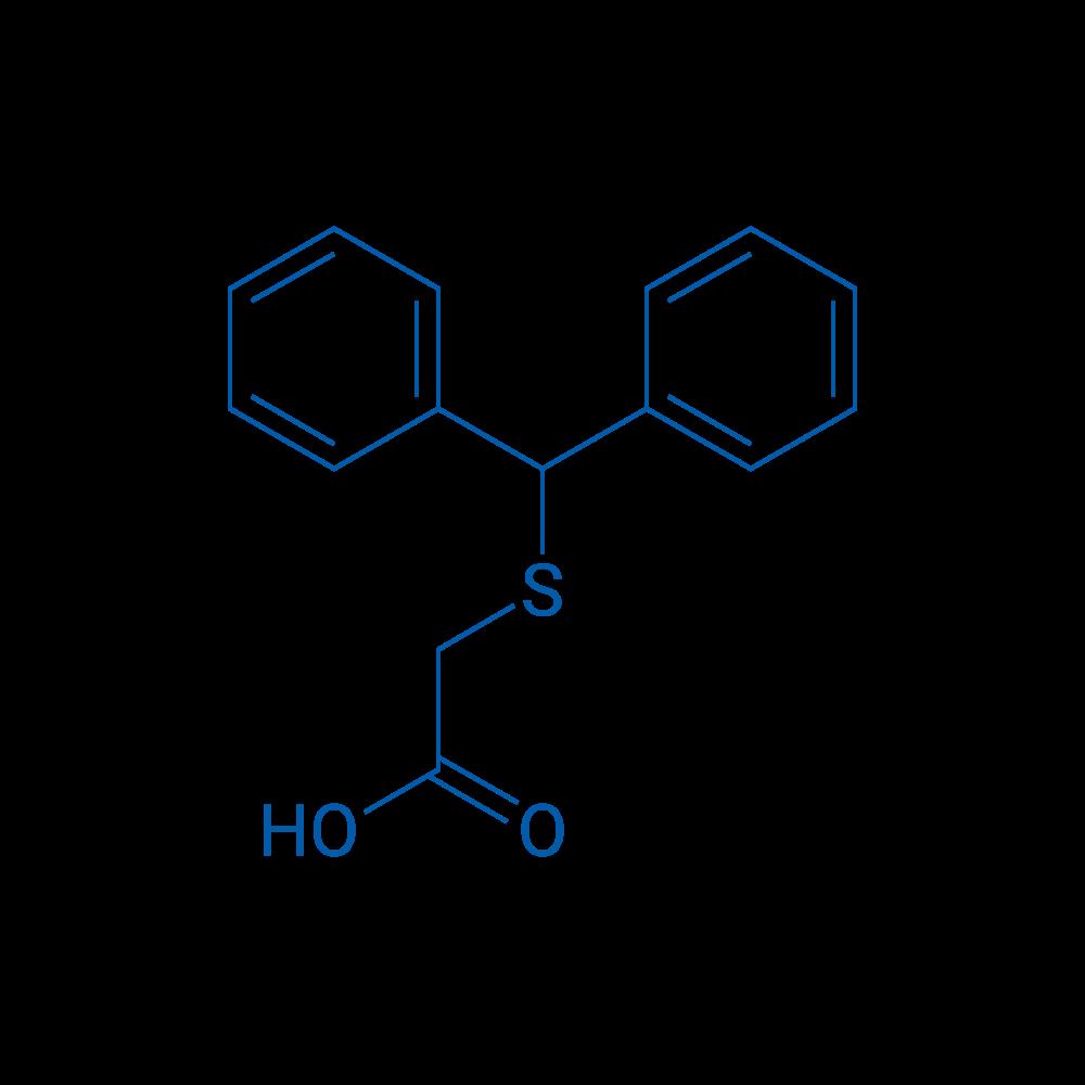 2-(Benzhydrylthio)acetic acid