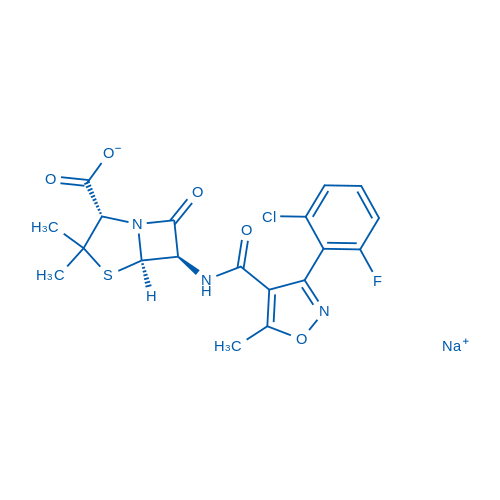 (2S,5R,6R)-6-(3-(2-Chloro-6-fluorophenyl)-5-methylisoxazole-4-carboxamido)-3,3-dimethyl-7-oxo-4-thia-1-azabicyclo[3.2.0]heptane-2-carboxylic acid,sodium salt