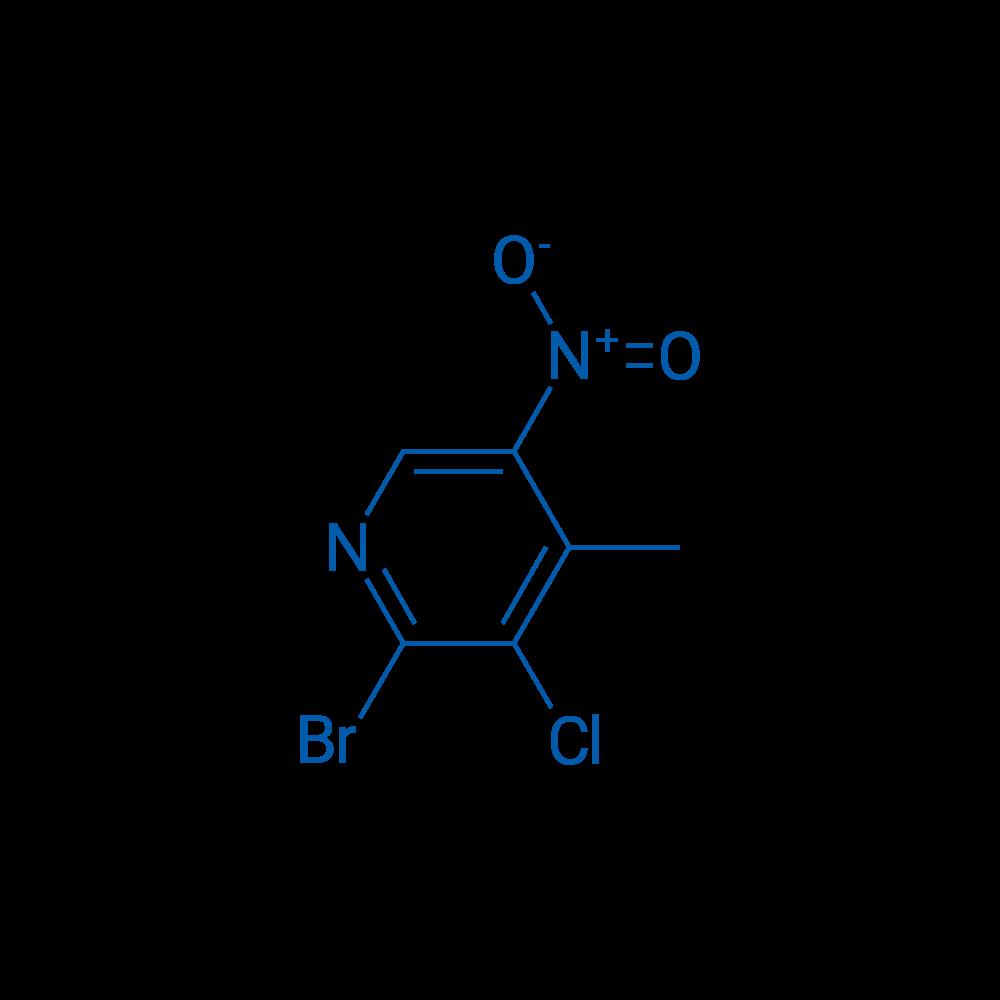 2-Bromo-3-chloro-4-methyl-5-nitropyridine