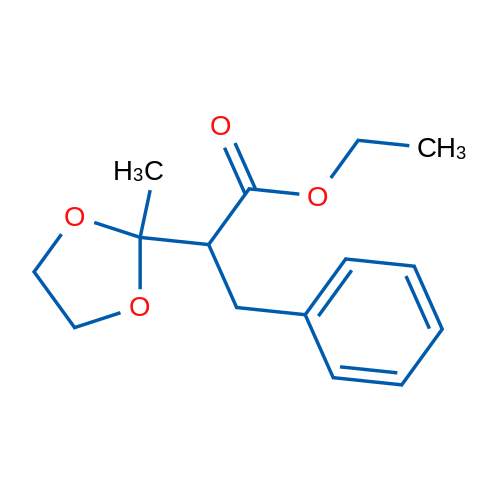 Ethyl 2-(2-methyl-1,3-dioxolan-2-yl)-3-phenylpropanoate