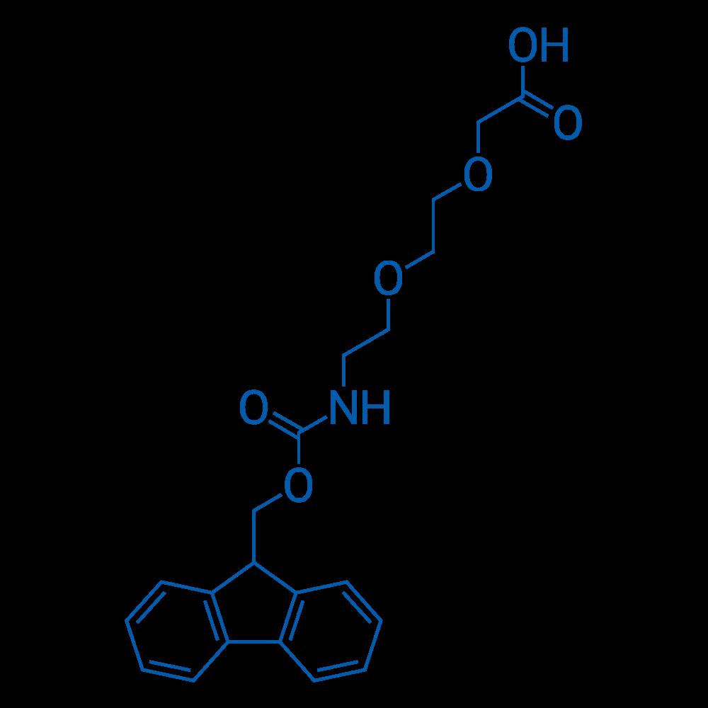 1-(9H-Fluoren-9-yl)-3-oxo-2,7,10-trioxa-4-azadodecan-12-oic acid