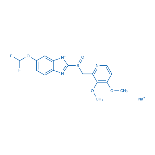 Sodium (S)-6-(difluoromethoxy)-2-(((3,4-dimethoxypyridin-2-yl)methyl)sulfinyl)benzo[d]imidazol-1-ide