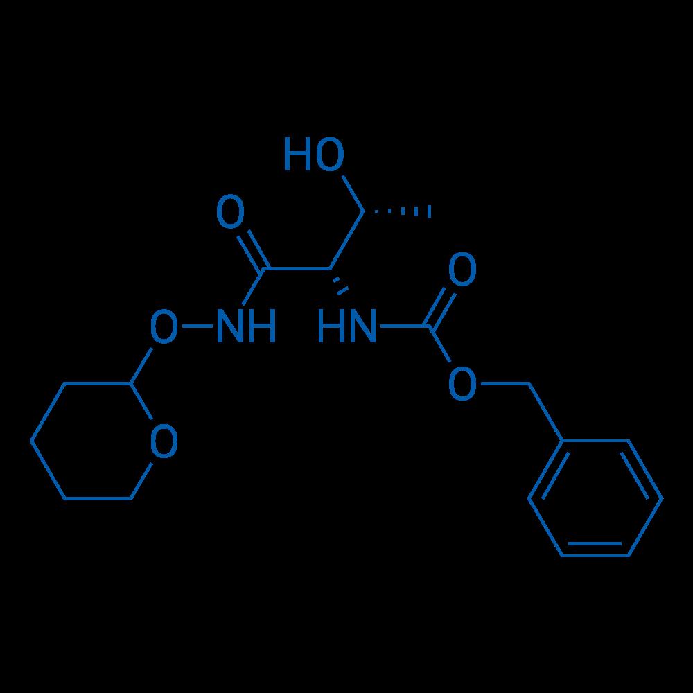 Benzyl ((2S,3R)-3-hydroxy-1-oxo-1-(((tetrahydro-2H-pyran-2-yl)oxy)amino)butan-2-yl)carbamate