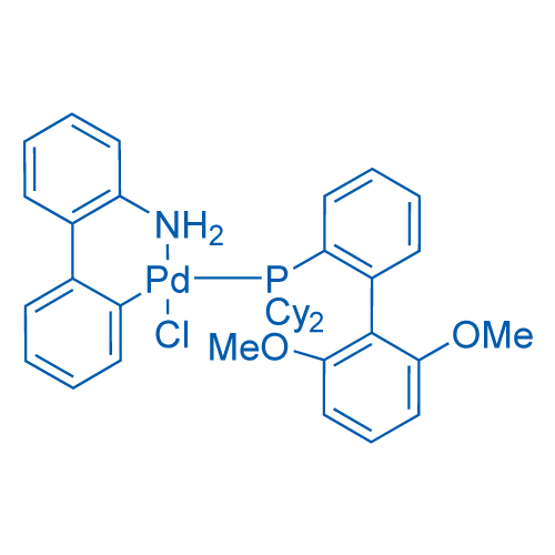 Chloro(2-dicyclohexylphosphino-2',6'-dimethoxy-1,1'-biphenyl)(2'-amino-1,1'-biphenyl-2-yl)palladium(II)