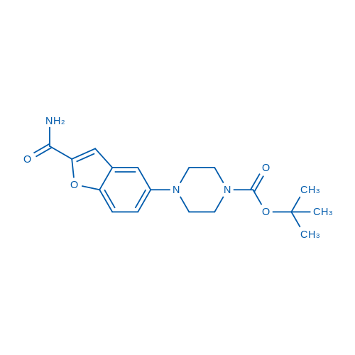 tert-Butyl 4-(2-carbamoylbenzofuran-5-yl)piperazine-1-carboxylate