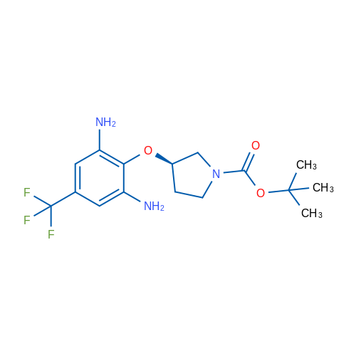 (R)-tert-Butyl 3-(2,6-diamino-4-(trifluoromethyl)-phenoxy)pyrrolidine-1-carboxylate
