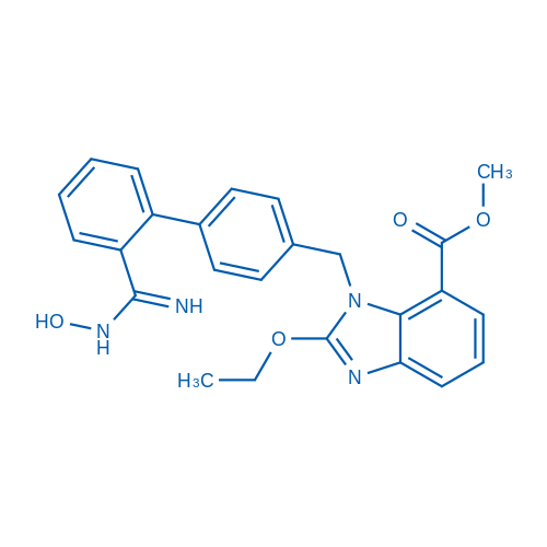 Methyl 2-ethoxy-1-((2'-(N-hydroxycarbamimidoyl)-[1,1'-biphenyl]-4-yl)methyl)-1H-benzo[d]imidazole-7-carboxylate