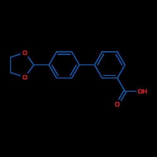 4'-(1,3-Dioxolan-2-yl)biphenyl-3-carboxylic acid