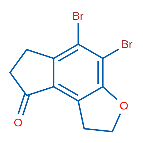 4,5-Dibromo-6,7-dihydro-1H-indeno[5,4-b]furan-8(2H)-one