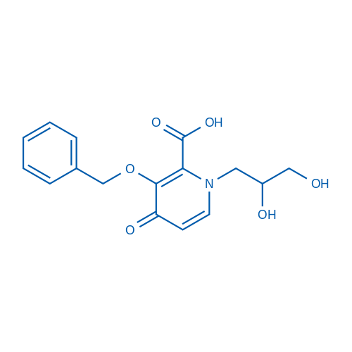 3-(Benzyloxy)-1-(2,3-dihydroxypropyl)-4-oxo-1,4-dihydropyridine-2-carboxylic acid