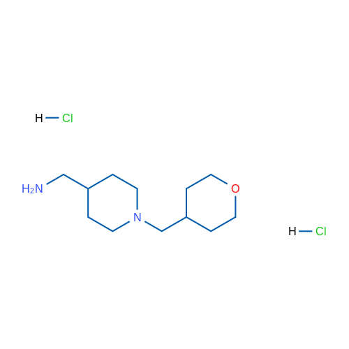 (1-((Tetrahydro-2H-pyran-4-yl)methyl)piperidin-4-yl)methanamine dihydrochloride