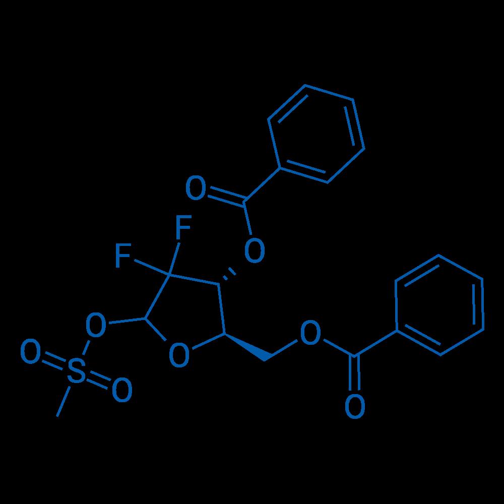 ((2R,3R)-3-(Benzoyloxy)-4,4-difluoro-5-((methylsulfonyl)oxy)tetrahydrofuran-2-yl)methyl benzoate
