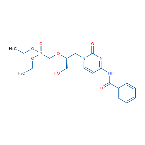 (S)-Diethyl (((1-(4-benzamido-2-oxopyrimidin-1(2H)-yl)-3-hydroxypropan-2-yl)oxy)methyl)phosphonate
