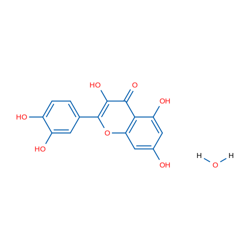 2-(3,4-Dihydroxyphenyl)-3,5,7-trihydroxy-4H-chromen-4-one hydrate