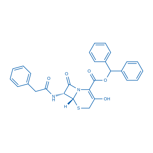 (6R,7R)-Benzhydryl 3-hydroxy-8-oxo-7-(2-phenylacetamido)-5-thia-1-azabicyclo[4.2.0]oct-2-ene-2-carboxylate