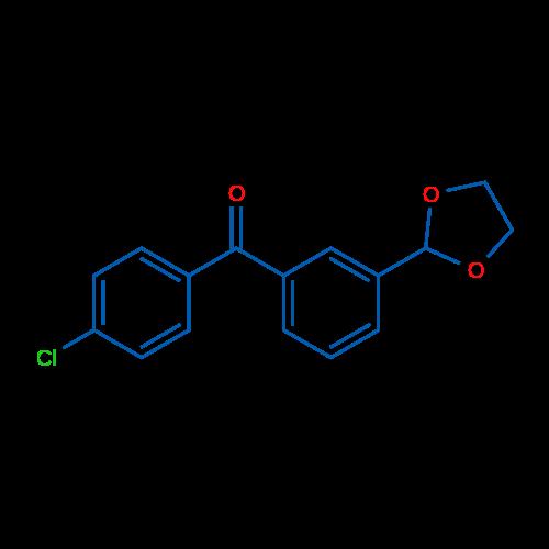 4'-Chloro-3-(1,3-dioxolan-2-yl)benzophenone
