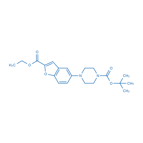 tert-Butyl 4-(2-(ethoxycarbonyl)benzofuran-5-yl)piperazine-1-carboxylate