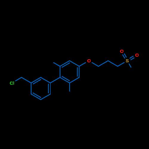 3'-(CHLOROMETHYL)-2,6-DIMETHYL-4-(3-(METHYLSULFONYL)PROPOXY)-1,1'-BIPHENYL