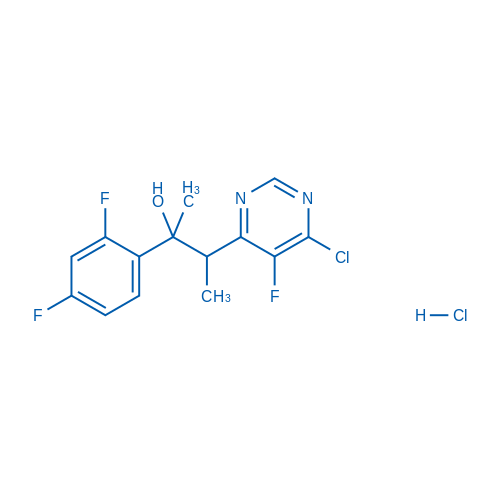 3-(6-Chloro-5-fluoropyrimidin-4-yl)-2-(2,4-difluorophenyl)butan-2-ol hydrochloride