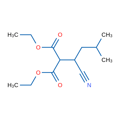 Diethyl 2-(1-cyano-3-methylbutyl)malonate
