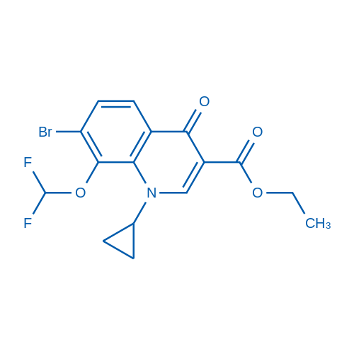 Ethyl 7-bromo-1-cyclopropyl-8-(difluoromethoxy)-4-oxo-1,4-dihydroquinoline-3-carboxylate