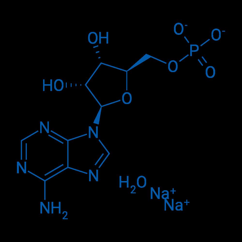 Sodium ((2R,3S,4R,5R)-5-(6-amino-9H-purin-9-yl)-3,4-dihydroxytetrahydrofuran-2-yl)methyl phosphate hydrate(2:1:x)