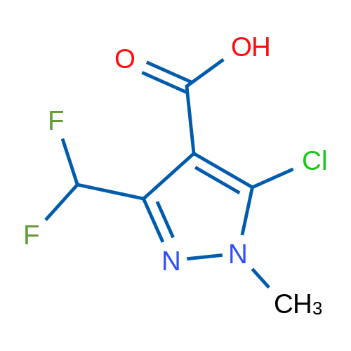 5-Chloro-3-(difluoromethyl)-1-methyl-1H-pyrazole-4-carboxylic acid