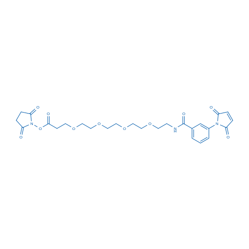 2,5-dioxopyrrolidin-1-yl 1-(3-(2,5-dioxo-2,5-dihydro-1H-pyrrol-1-yl)phenyl)-1-oxo-5,8,11,14-tetraoxa-2-azaheptadecan-17-oate