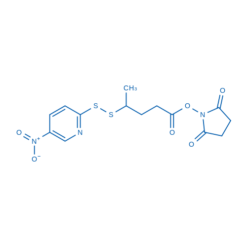 2,5-dioxopyrrolidin-1-yl 4-((5-nitropyridin-2-yl)disulfanyl)pentanoate