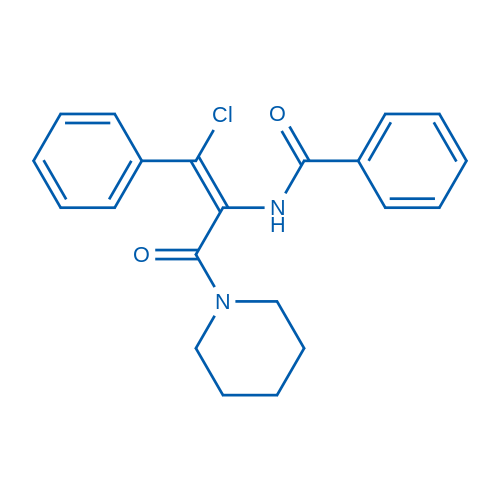 (Z)-N-(1-Chloro-3-oxo-1-phenyl-3-(piperidin-1-yl)prop-1-en-2-yl)benzamide
