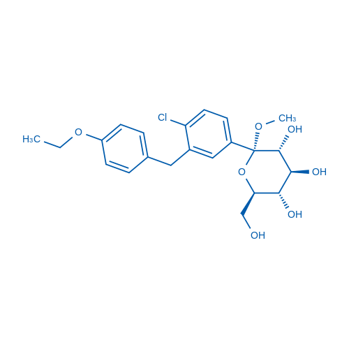 (2S,3R,4S,5S,6R)-2-(4-Chloro-3-(4-ethoxybenzyl)phenyl)-6-(hydroxymethyl)-2-methoxytetrahydro-2H-pyran-3,4,5-triol