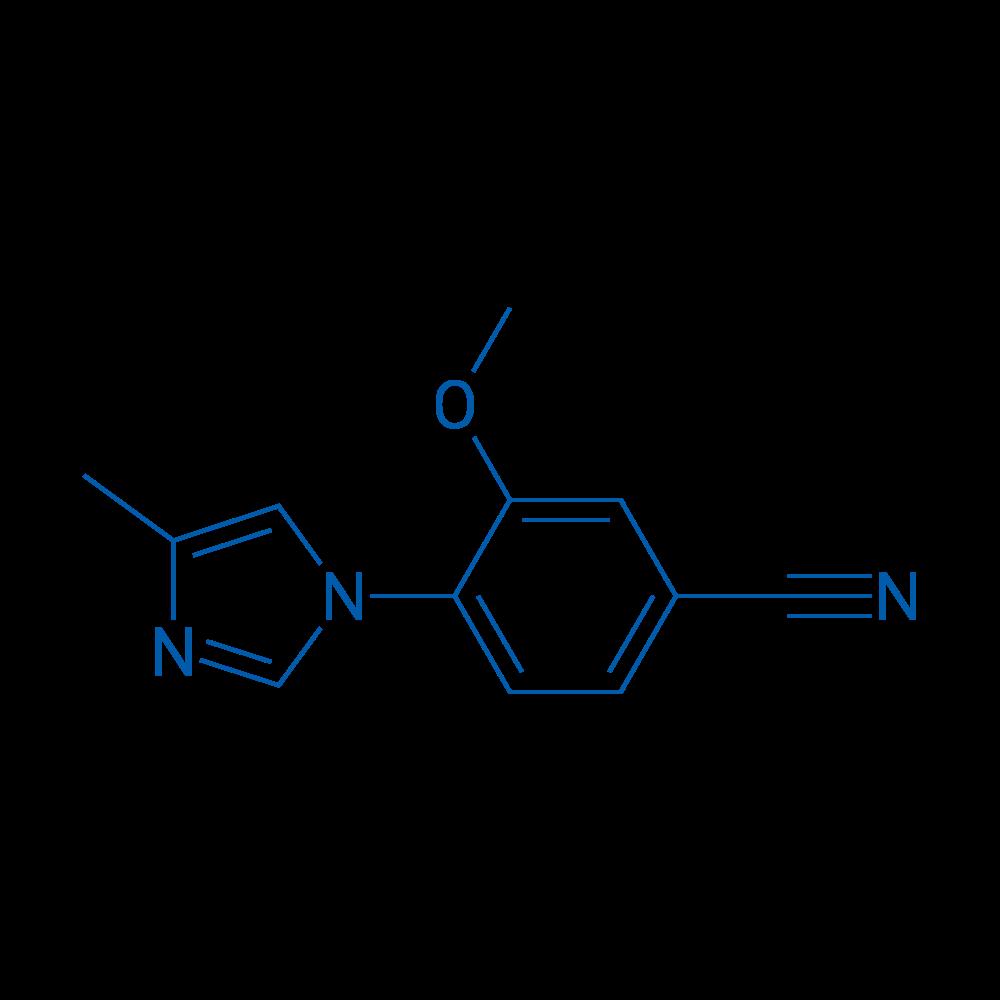 3-Methoxy-4-(4-methyl-1H-imidazol-1-yl)benzonitrile