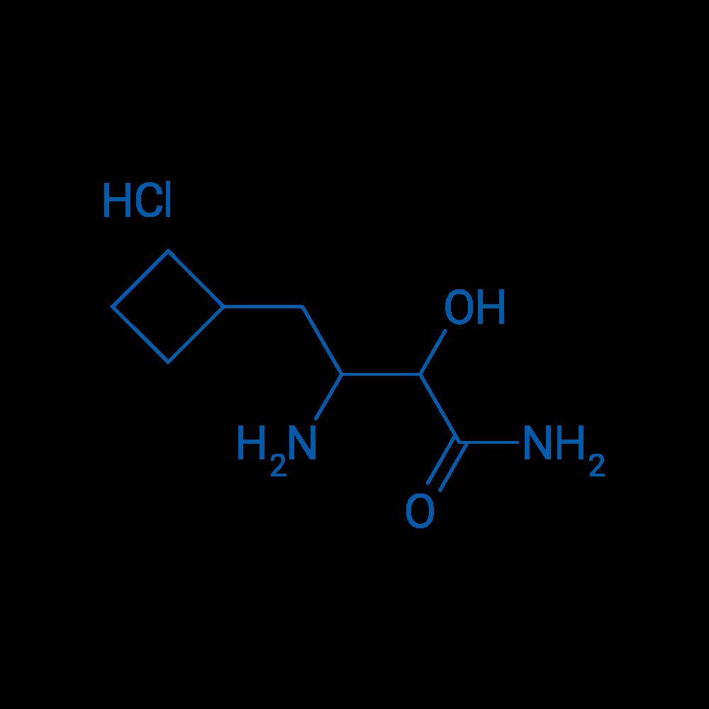 3-Amino-4-cyclobutyl-2-hydroxybutanamide hydrochloride