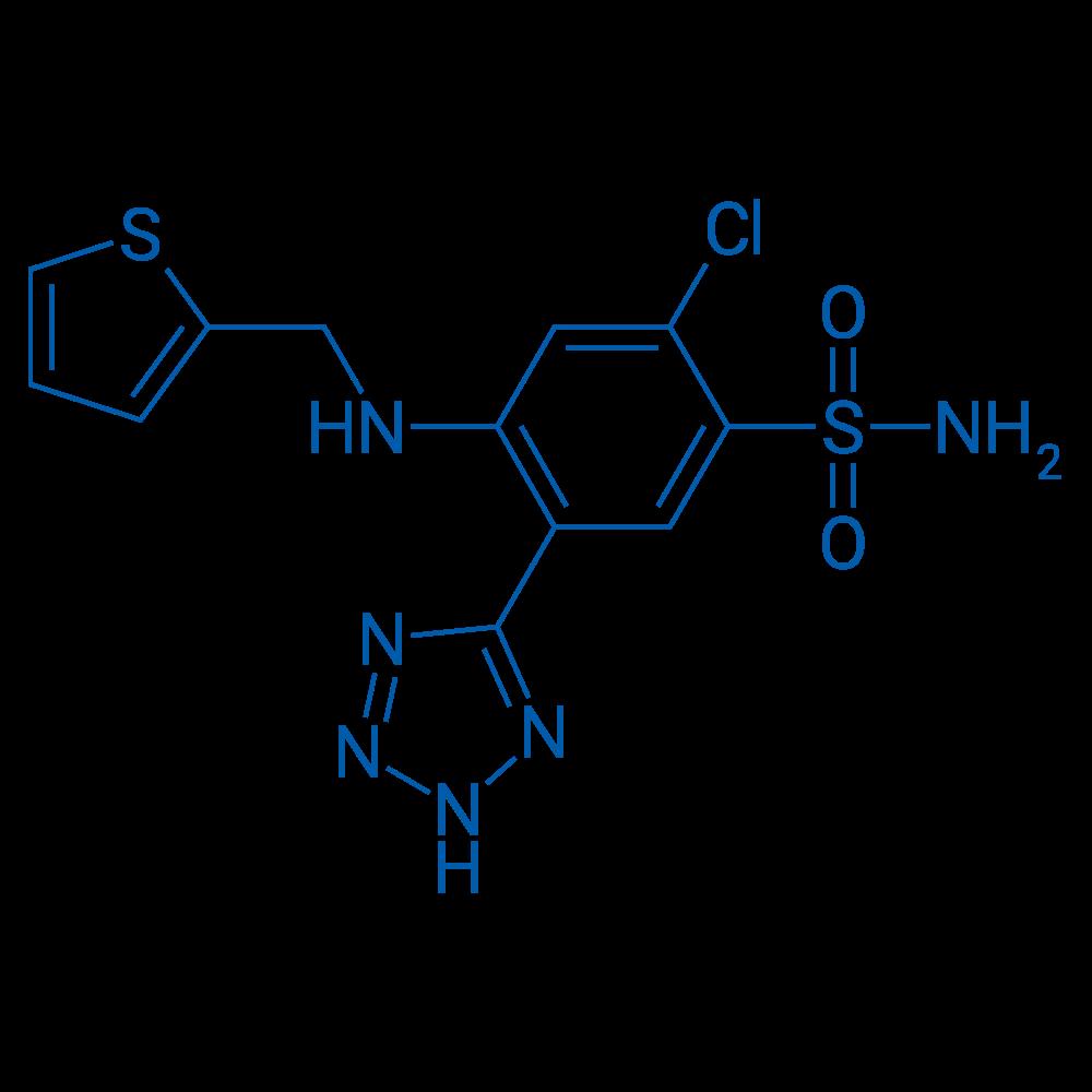 2-Chloro-5-(2H-tetrazol-5-yl)-4-((thiophen-2-ylmethyl)amino)benzenesulfonamide
