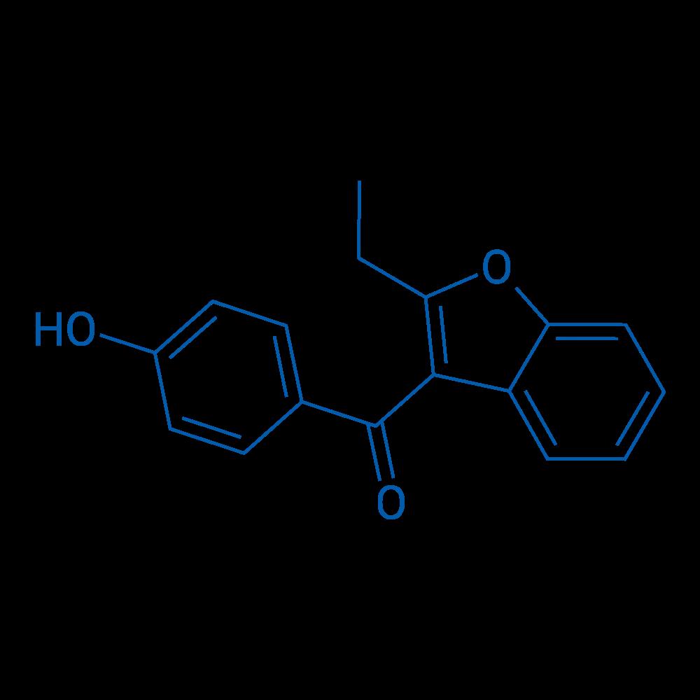 (2-Ethylbenzofuran-3-yl)(4-hydroxyphenyl)methanone
