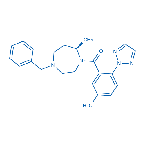 (R)-(4-Benzyl-7-methyl-1,4-diazepan-1-yl)(5-methyl-2-(2H-1,2,3-triazol-2-yl)phenyl)methanone
