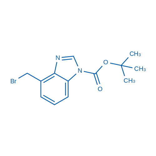 tert-Butyl 4-(bromomethyl)-1H-benzo[d]imidazole-1-carboxylate