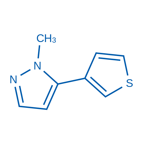 1-Methyl-5-(thiophen-3-yl)-1H-pyrazole