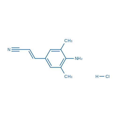 (E)-3-(4-Amino-3,5-dimethylphenyl)acrylonitrile hydrochloride