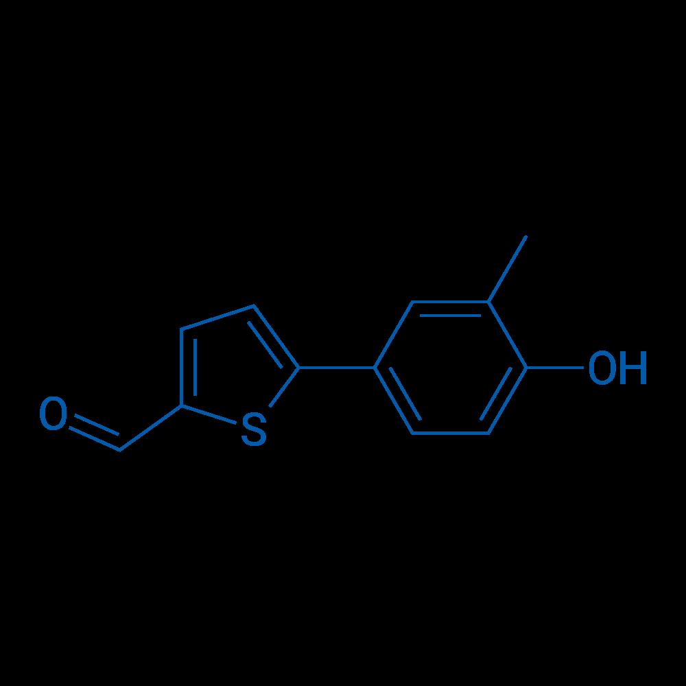 4-(5-Formylthiophen-2-yl)-2-methylphenol