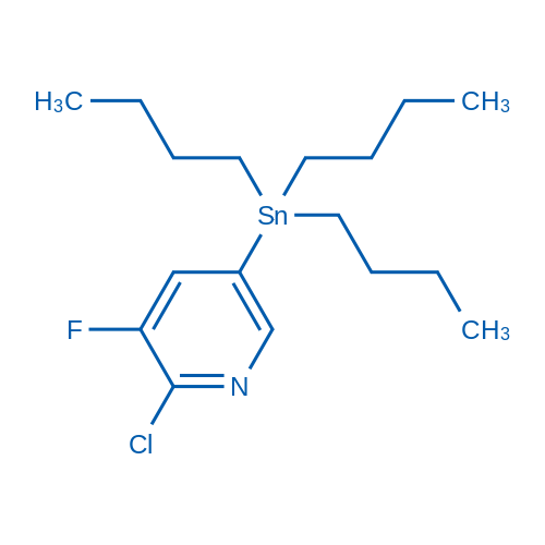2-Chloro-3-fluoro-5-(tributylstannyl)pyridine