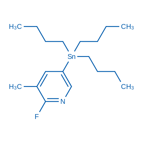 2-Fluoro-3-methyl-5-(tributylstannyl)pyridine