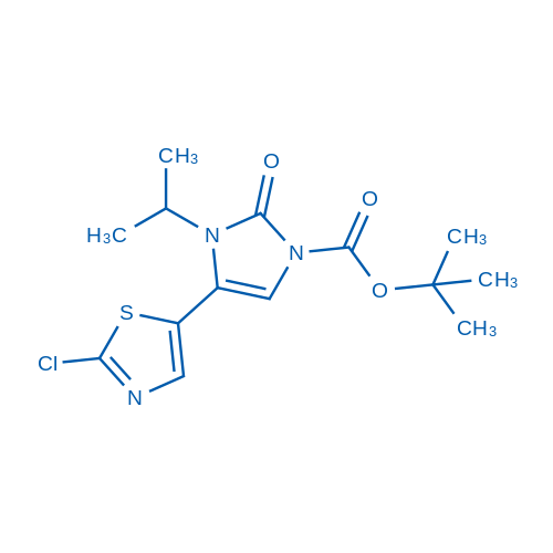 tert-Butyl 4-(2-chlorothiazol-5-yl)-3-isopropyl-2-oxo-2,3-dihydro-1H-imidazole-1-carboxylate