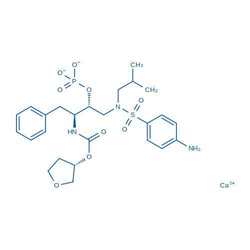 Fosamprenavir calcium