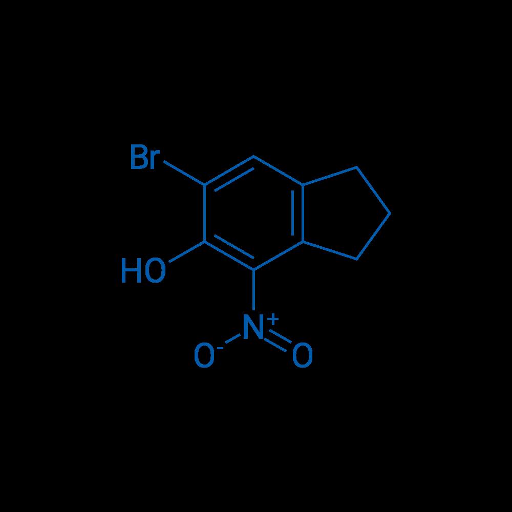 6-Bromo-4-nitro-2,3-dihydro-1H-inden-5-ol