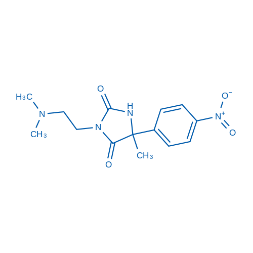3-(2-(Dimethylamino)ethyl)-5-methyl-5-(4-nitrophenyl)imidazolidine-2,4-dione